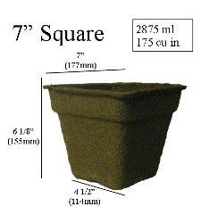 "CowPots 7"" Square - Biodegradable - Each or Case"