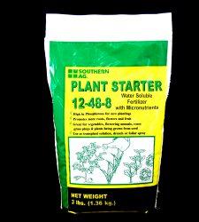 12-48-8 Plant Starter Soluble Fertilizer with Micronutrients 3lb Bag