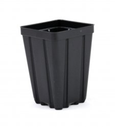 3.5 inch Deep Black Square Greenhouse Pots - P86D - Each or Case