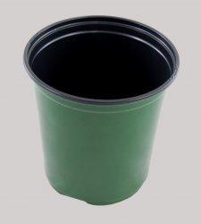 Plastic 1 Gallon Nursery Pot - Thermoform Shuttle Pot - Green - 270 Pots