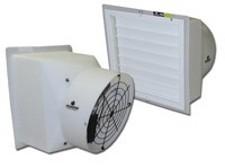 Polyethylene Flush Mount Exhaust Fans w/ PVC Shutter