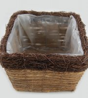 Natural+Planters+Lined+Basket+-+Indoor%2FOutdoor+Basket+-+Pack+of+3