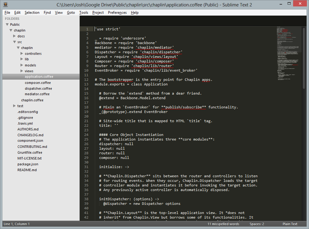 Registered version of Sublime Text 2 running under Windows 8