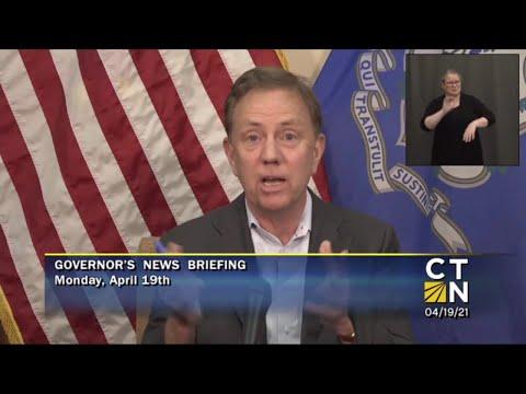 Governor Lamont's April 19, 2021 4PM Coronavirus U...
