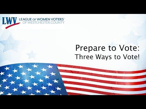 Prepare to Vote 3 Ways to Vote 093020