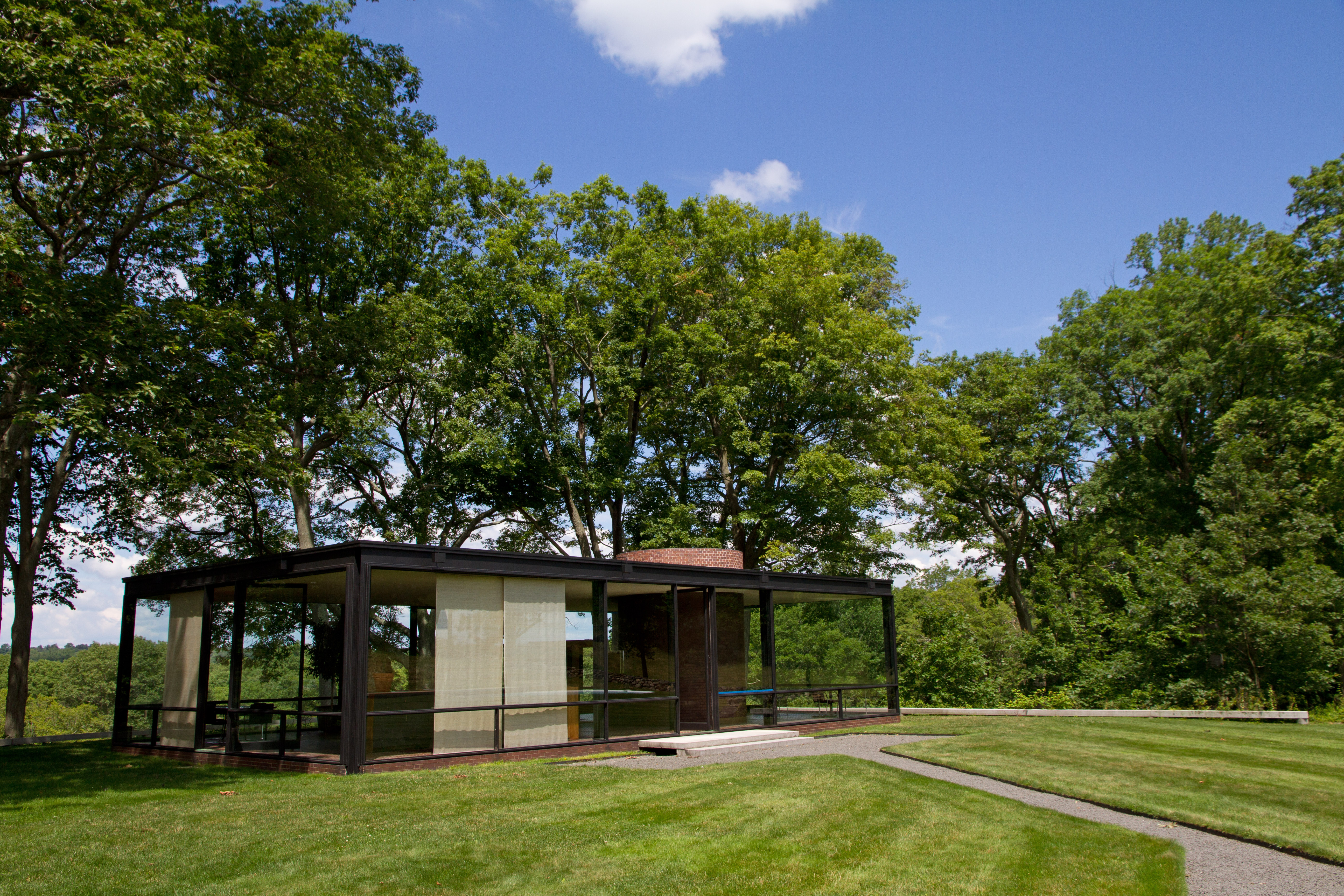 Philip Johnson Glass House take a tour of the philip johnson glass house in new canaan