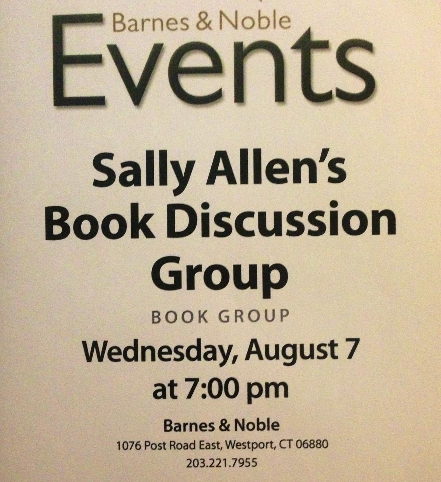 Aug 7 Book Group