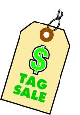 tag sale copy