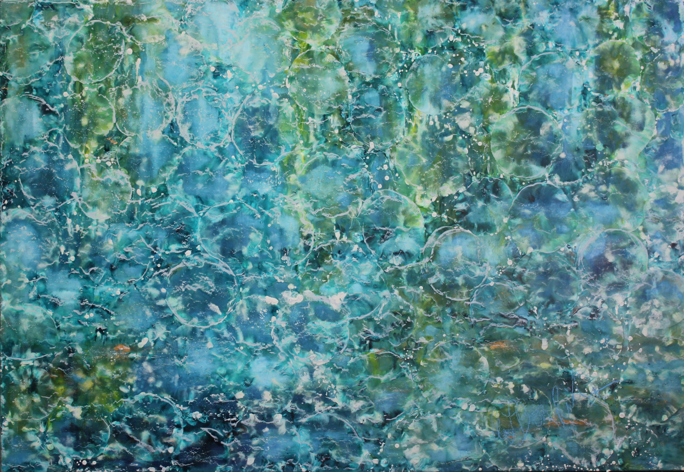 oil and encaustic painting 50x36