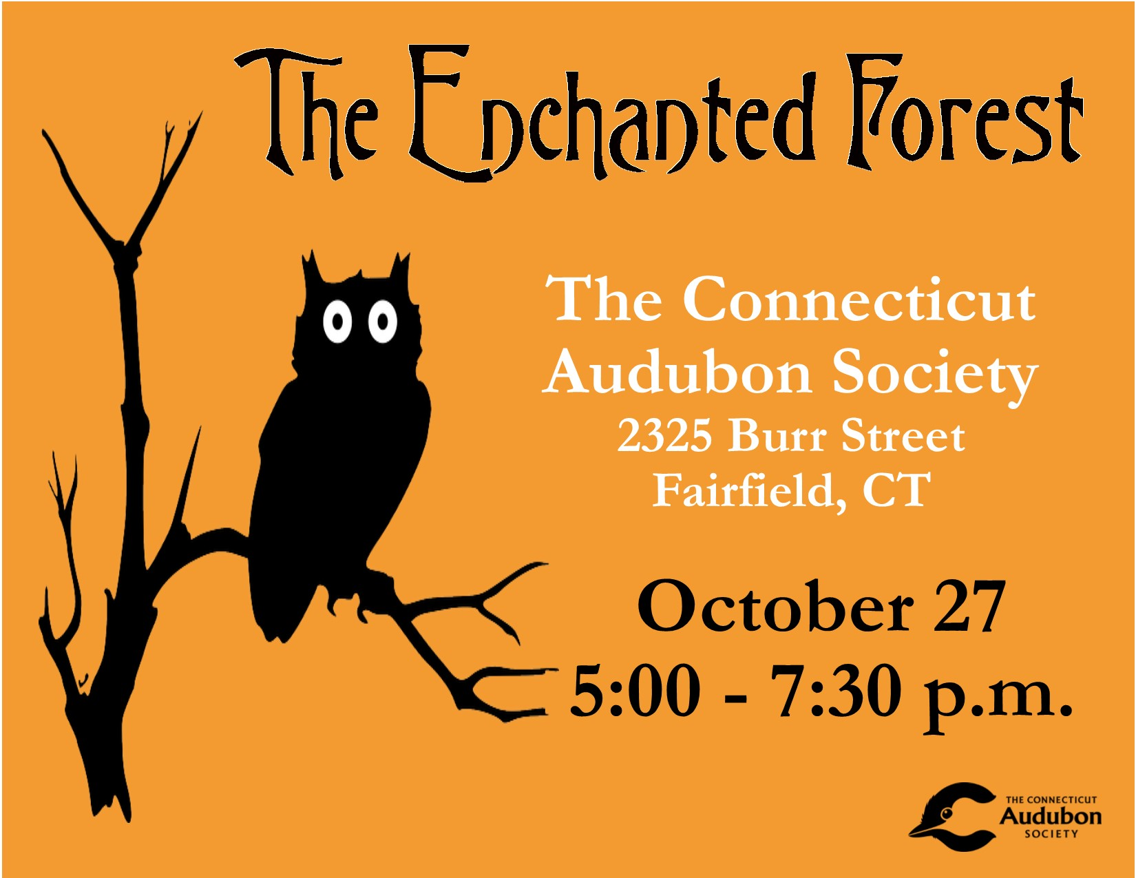 October 27th 2020 Halloween The Learning Experience CT Audubon Fairfield's Enchanted Forest, Oct. 27