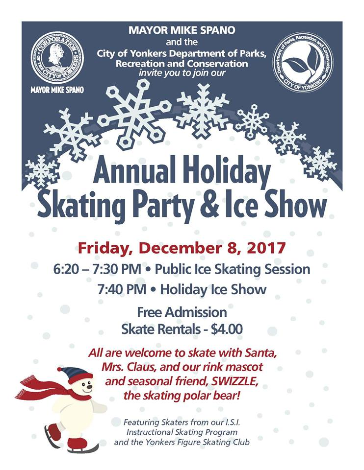Yonkers Free Ice Skating Party Tomorrow
