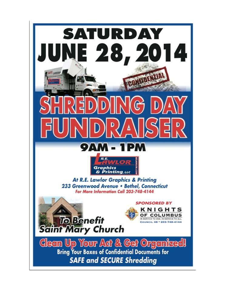 Shredding Day Fundraiser to Benefit Saint Mary Church