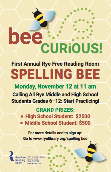First Annual Rye Free Reading Room Spelling Bee