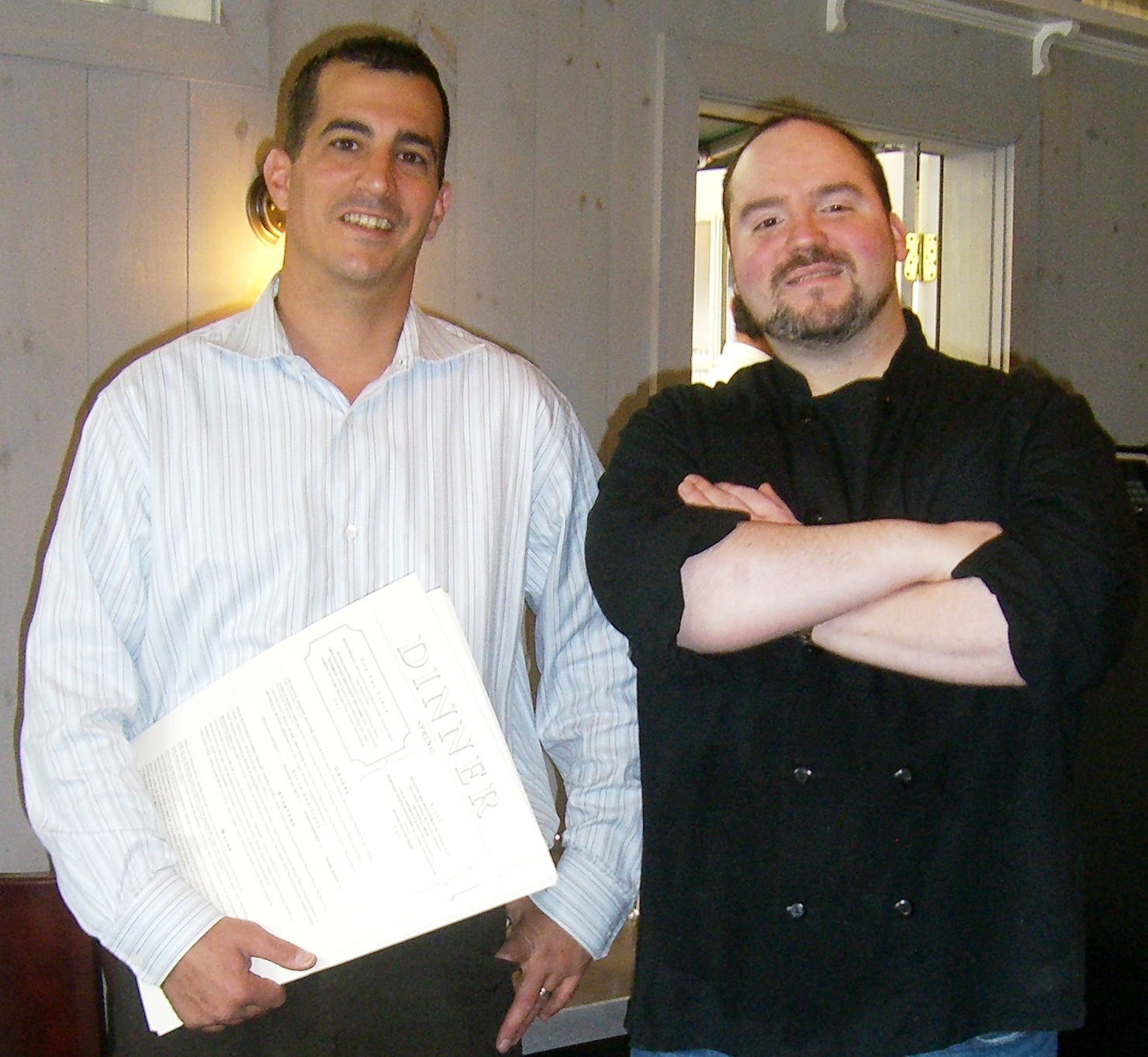Sal Bagliavio (left), Owner Of Baileyu0027s, And Executive Chef Forrest  Pasternack.