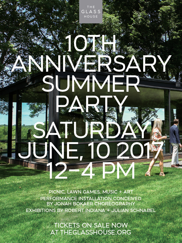 Tickets on Sale for 10th Anniversary Glass House Summer Party