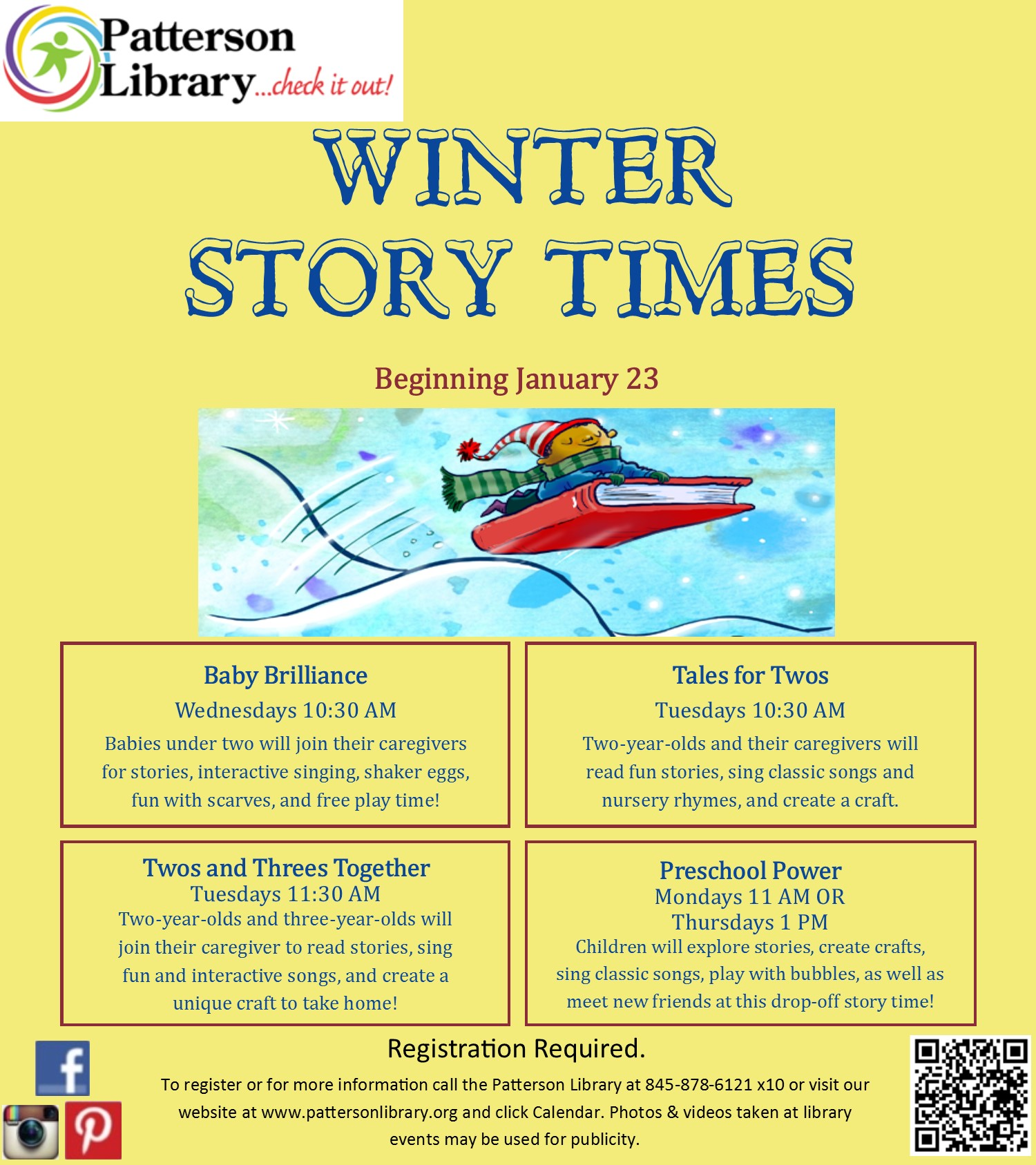 6ff49374c88f Winter Story Time Starts Jan 23 at Patterson Library