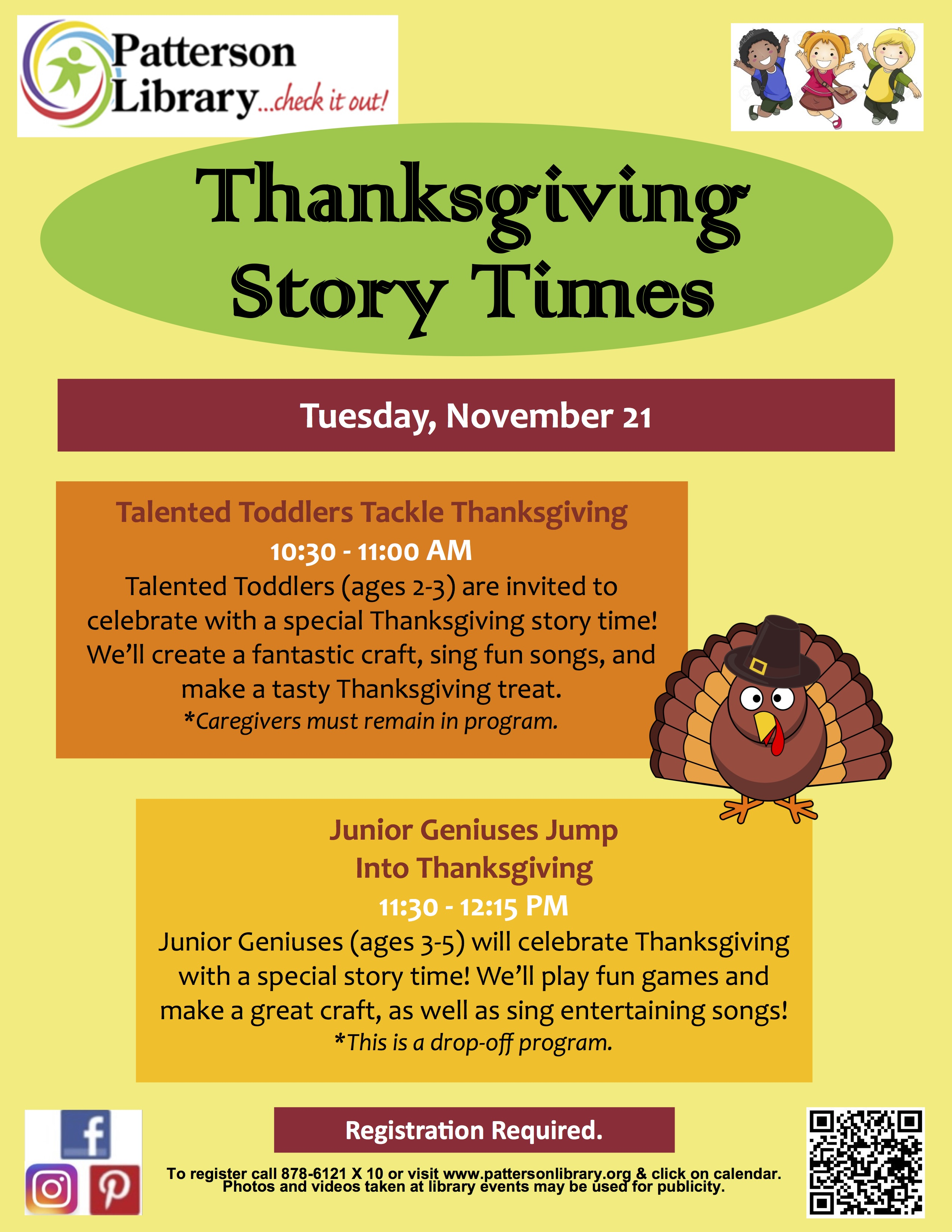 Pre thanksgiving programs for toddlers and pre schoolers kristyandbryce Image collections