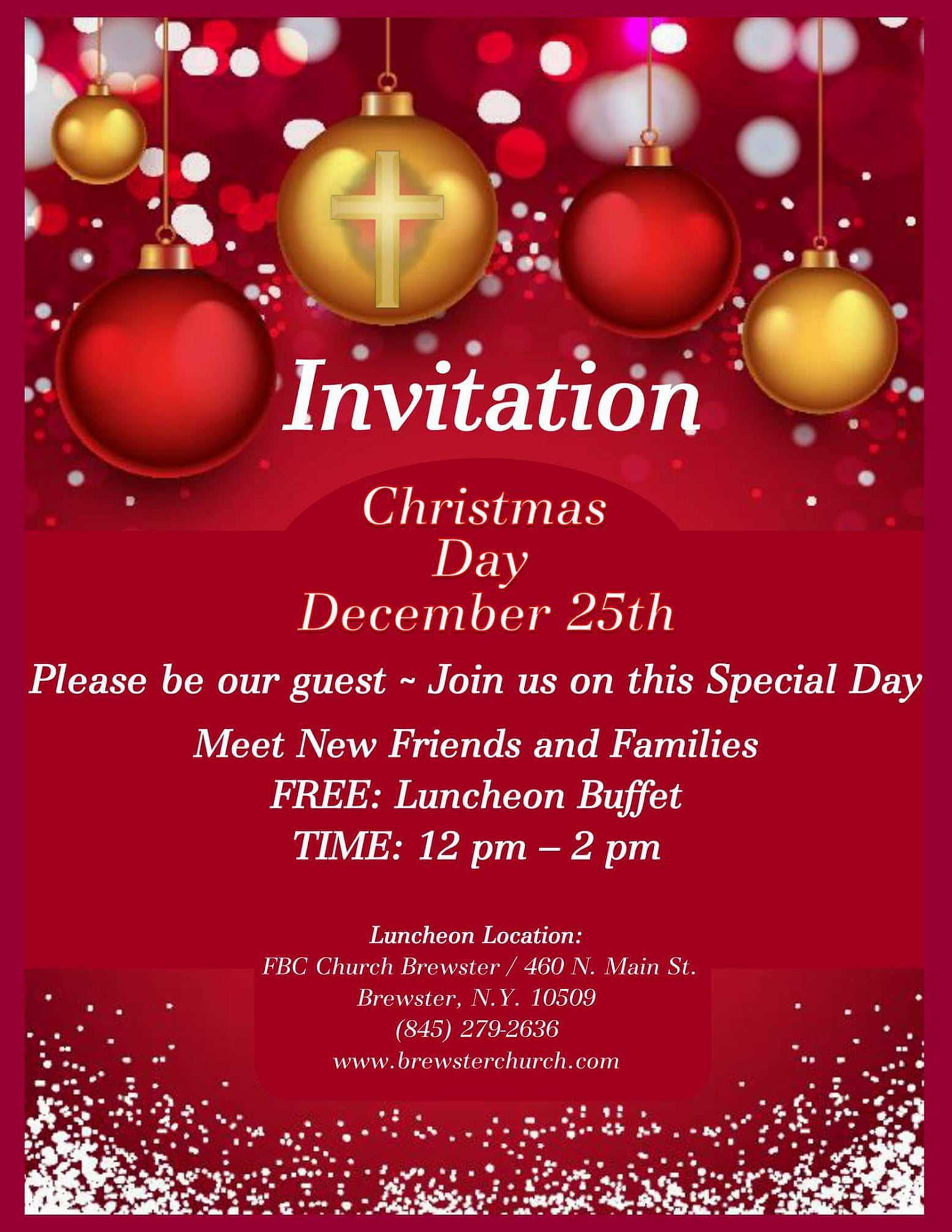 free christmas luncheon with fbc