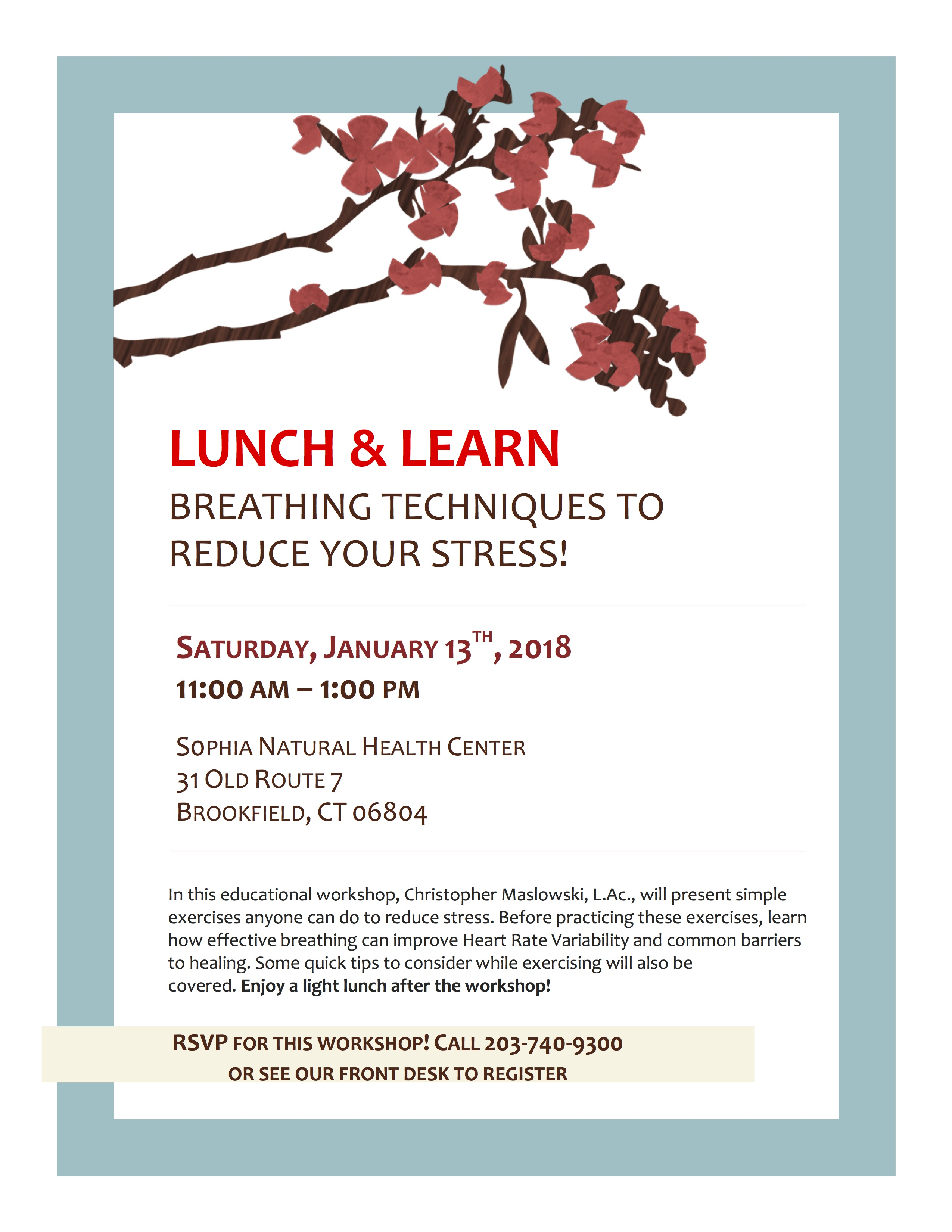 Free Lunch Learn Breathing Techniques to Reduce Stress