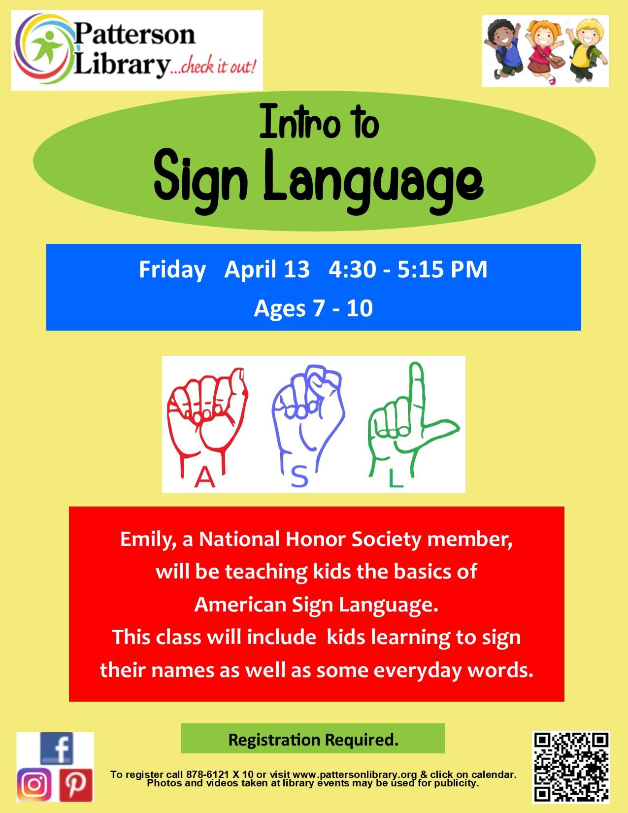 Intro to Sign Language