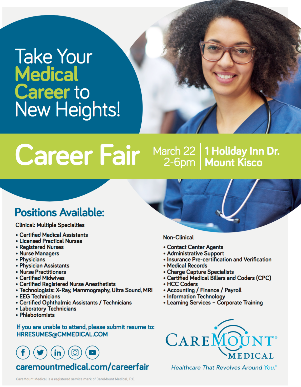 CareMount Medical to Host Career Fair March 22nd
