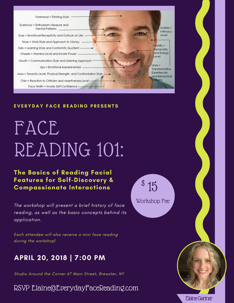 Face Reading Workshop to be Held at The Studio Around the Corner