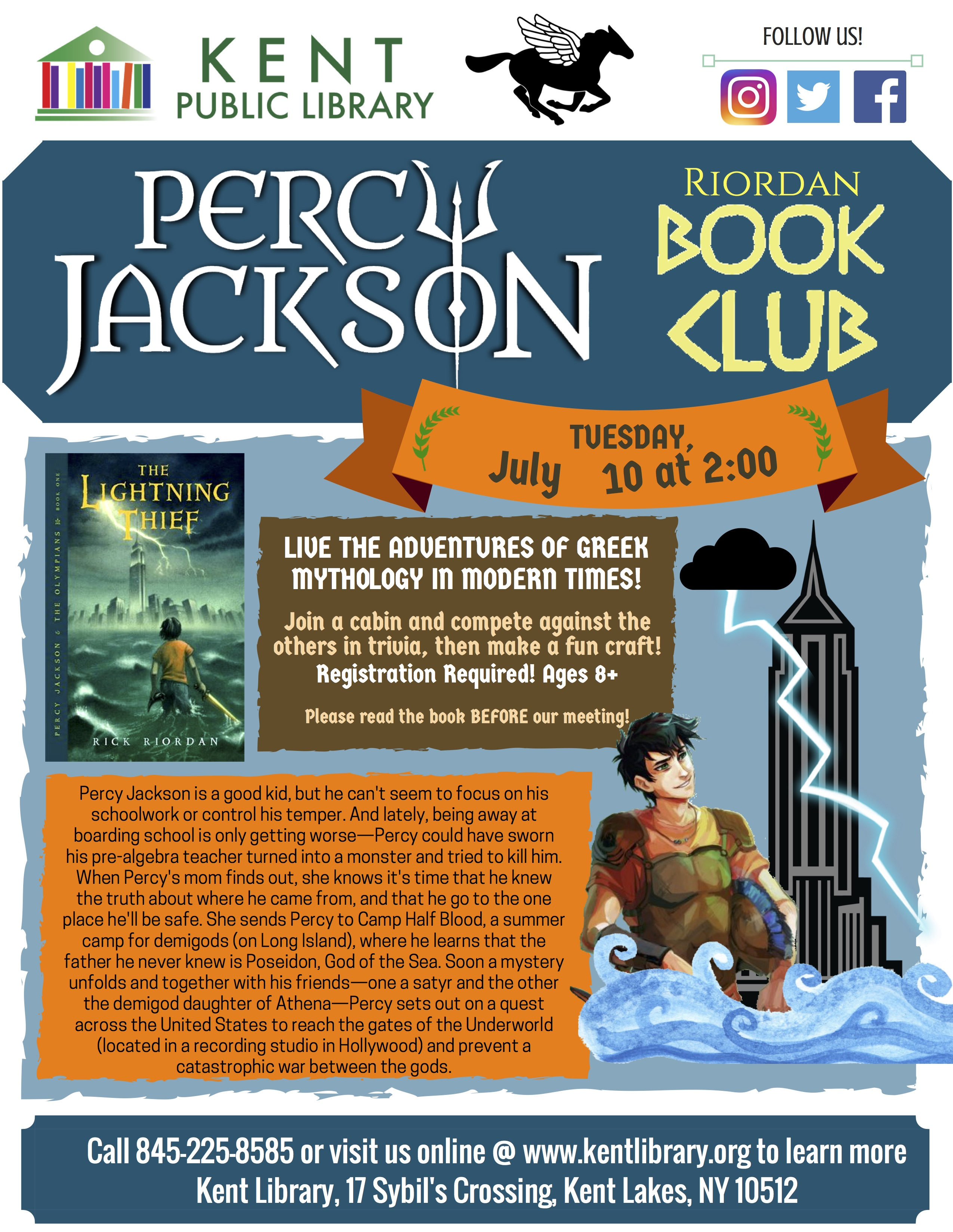 percy jackson book club starts again on tuesday july 10