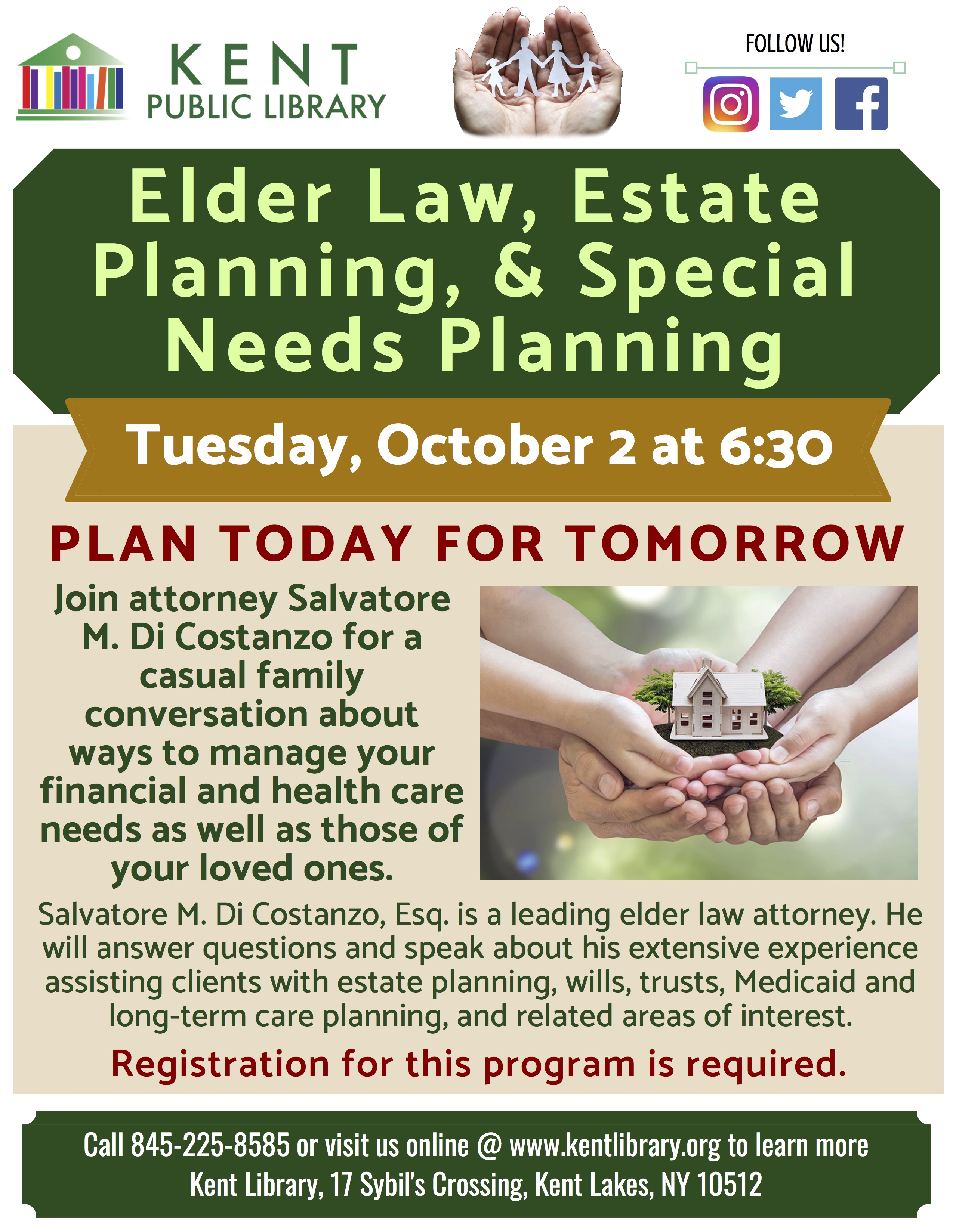 Estate Planning For Special Needs >> Elder Law Estate Planning And Special Needs Planning Workshop