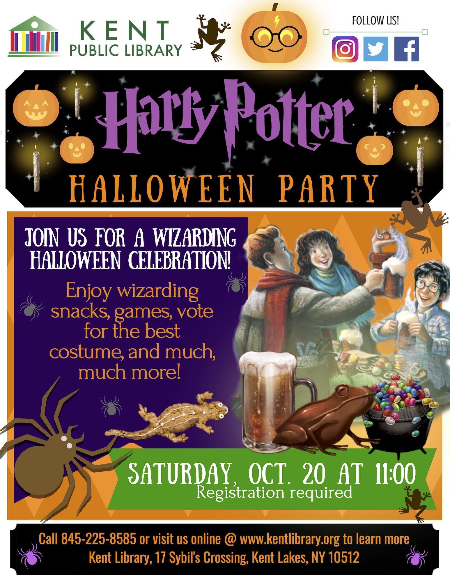 harry potter halloween party at the kent library