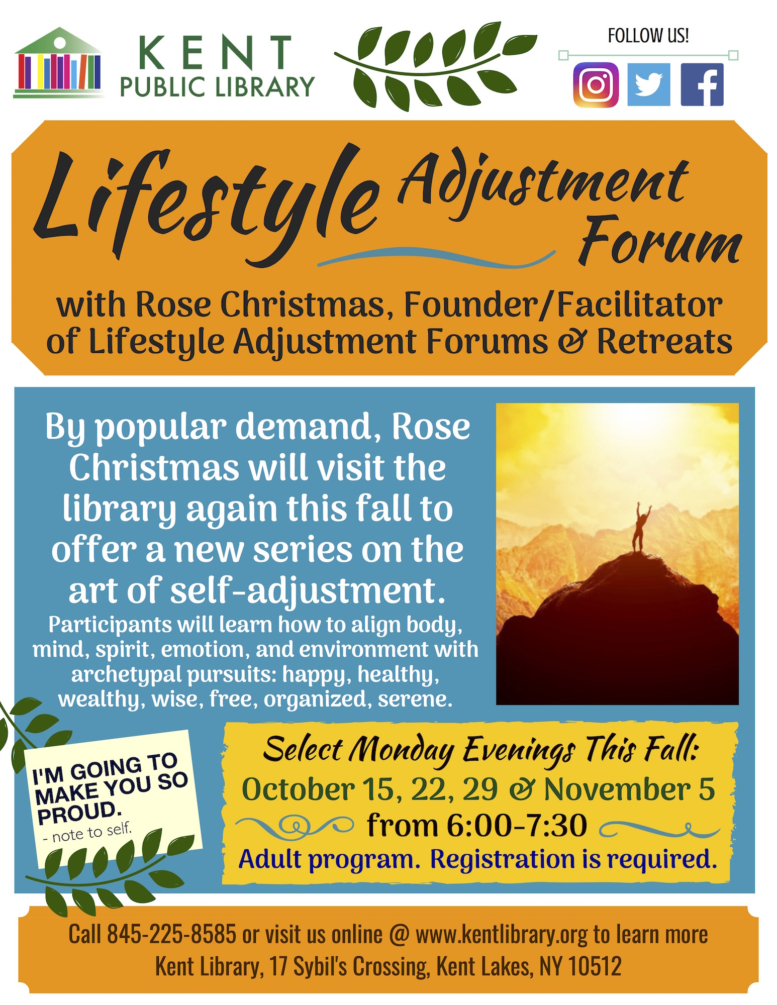 by popular demand rose christmas founderfacilitator of lifestyle adjustment forums retreats will visit the kent library again this fall to offer a new - Christmas Forum