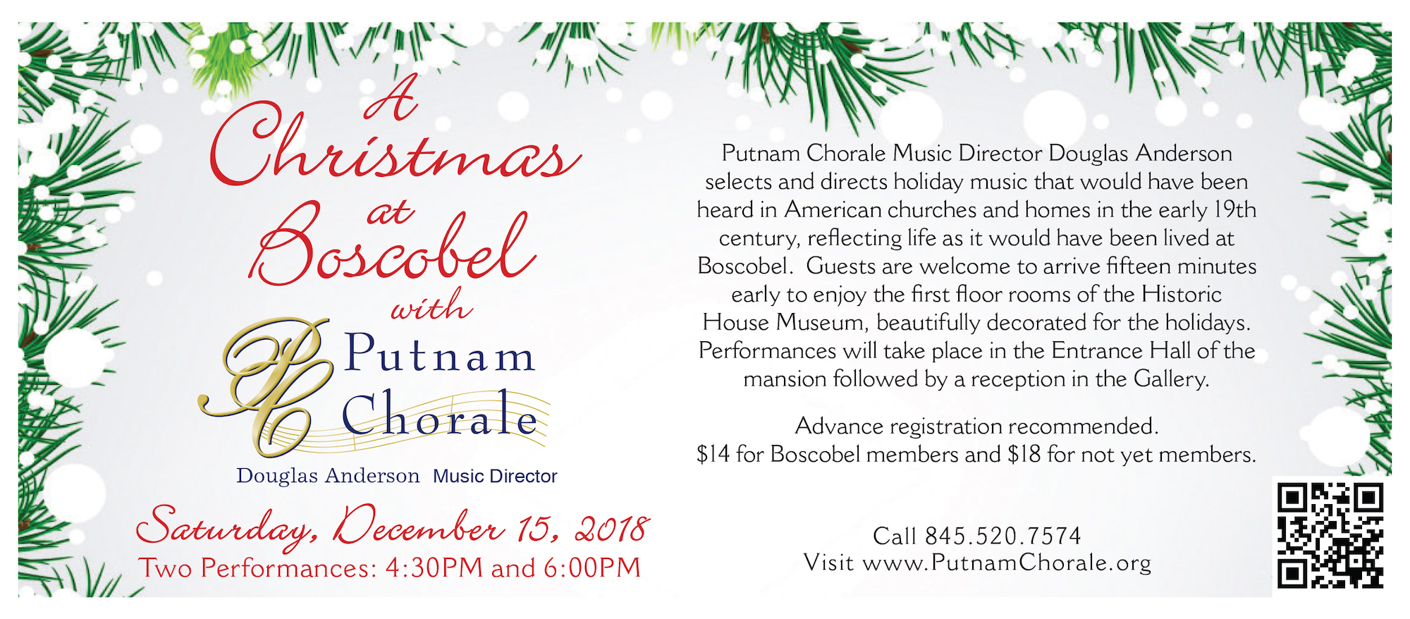 Christmas At Boscobel With The Putnam Chorale