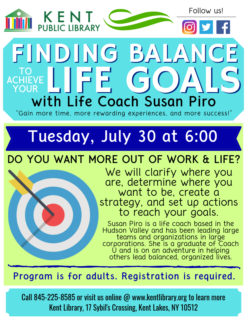 Life Coaching Event at the Kent Library