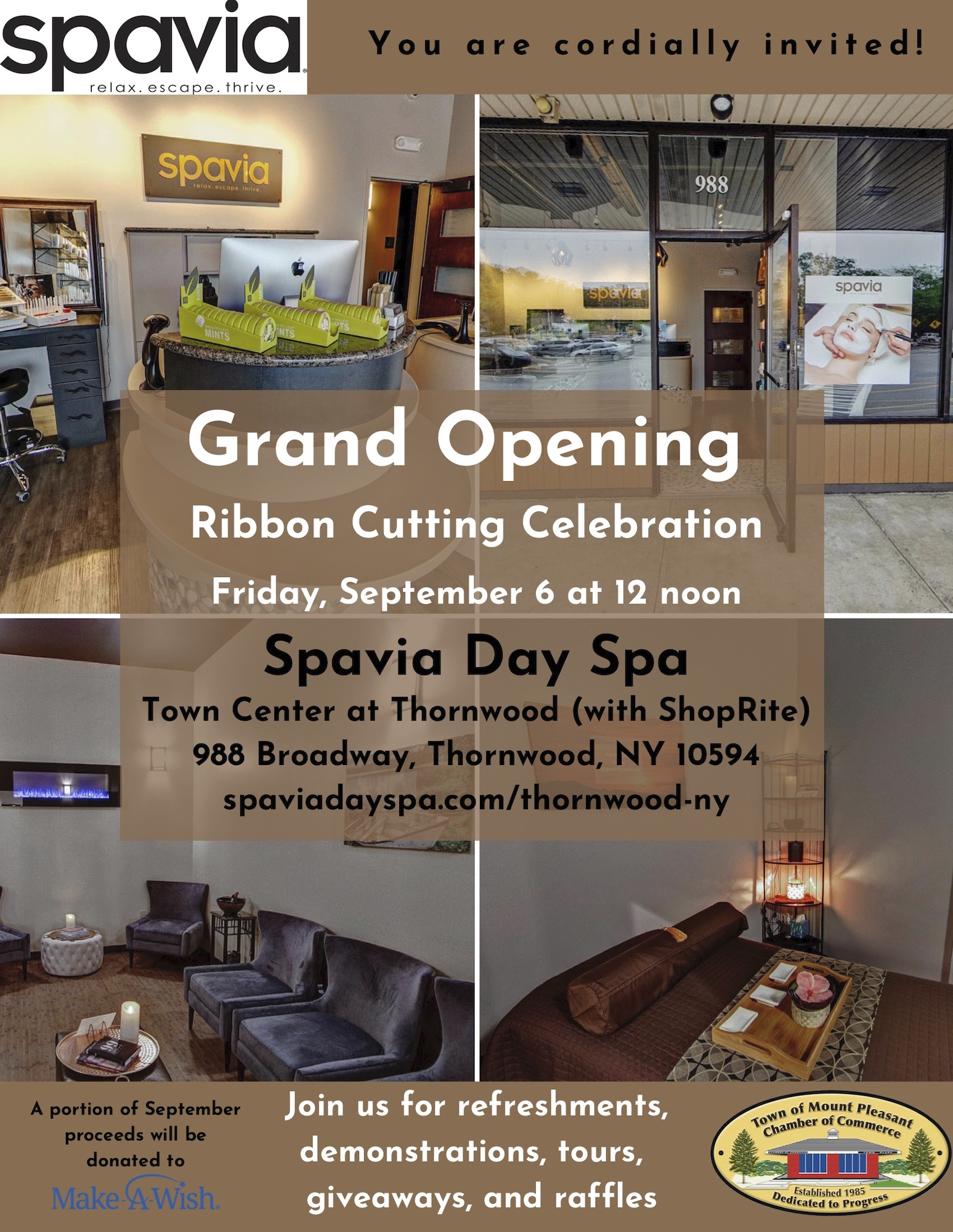 Spavia Day Spa Hosts Grand Opening Ribbon Cutting in Thornwood