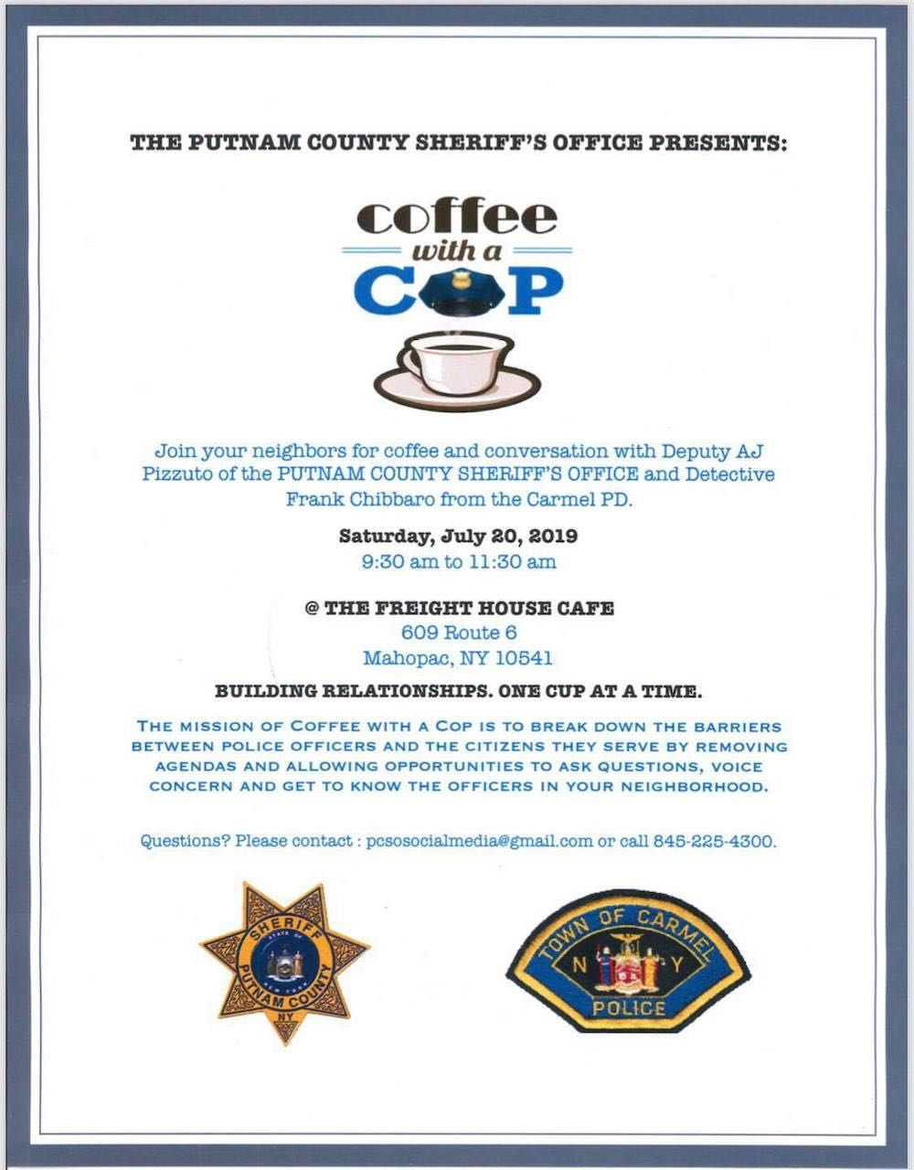 THE PUTNAM COUNTY SHERIFF'S OFFICE PRESENTS: Coffee with a COP