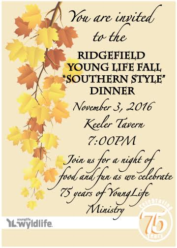 Ridgefield Young Life & Wyldlife Hold Fall Dinner at Keeler