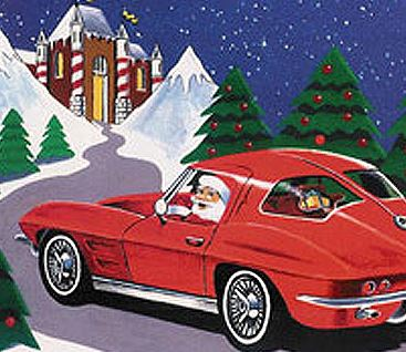 State Troopers Welcome Santa Corvettes And Classic Cars To Kick Off