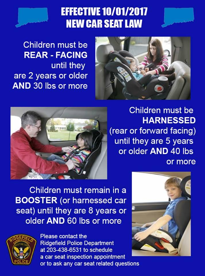 Connecticut Child Restraint Law Effective October 1 2017