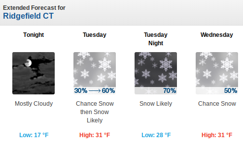 Accumulating Snowfall Possible Late Tuesday into Wednesday