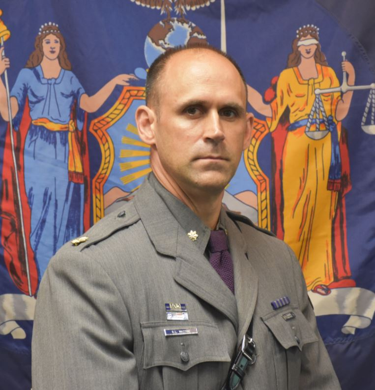 State Police announce that Major Richard L  Mazzone will
