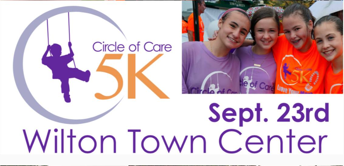 Wilton Travel Alert: Circle of Care 5K in Town Center on Sunday