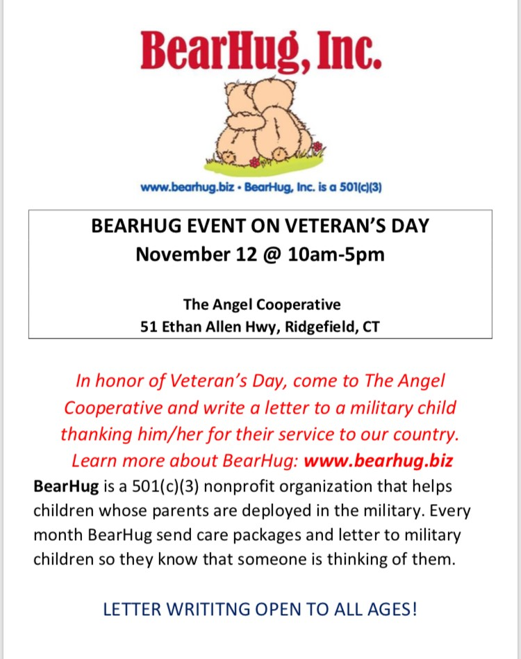 in honor of veterans day bearhug invites you to write a letter to a military child