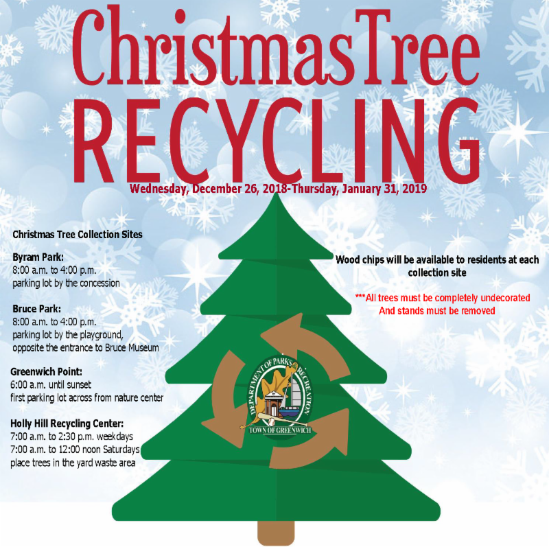 Greenwich Residents Can Recycle Christmas Trees Through January 31