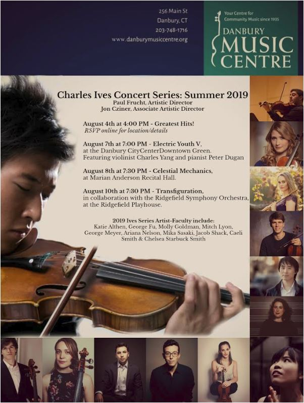 Danbury Music Centre's Charles Ives Concert Series Announces August