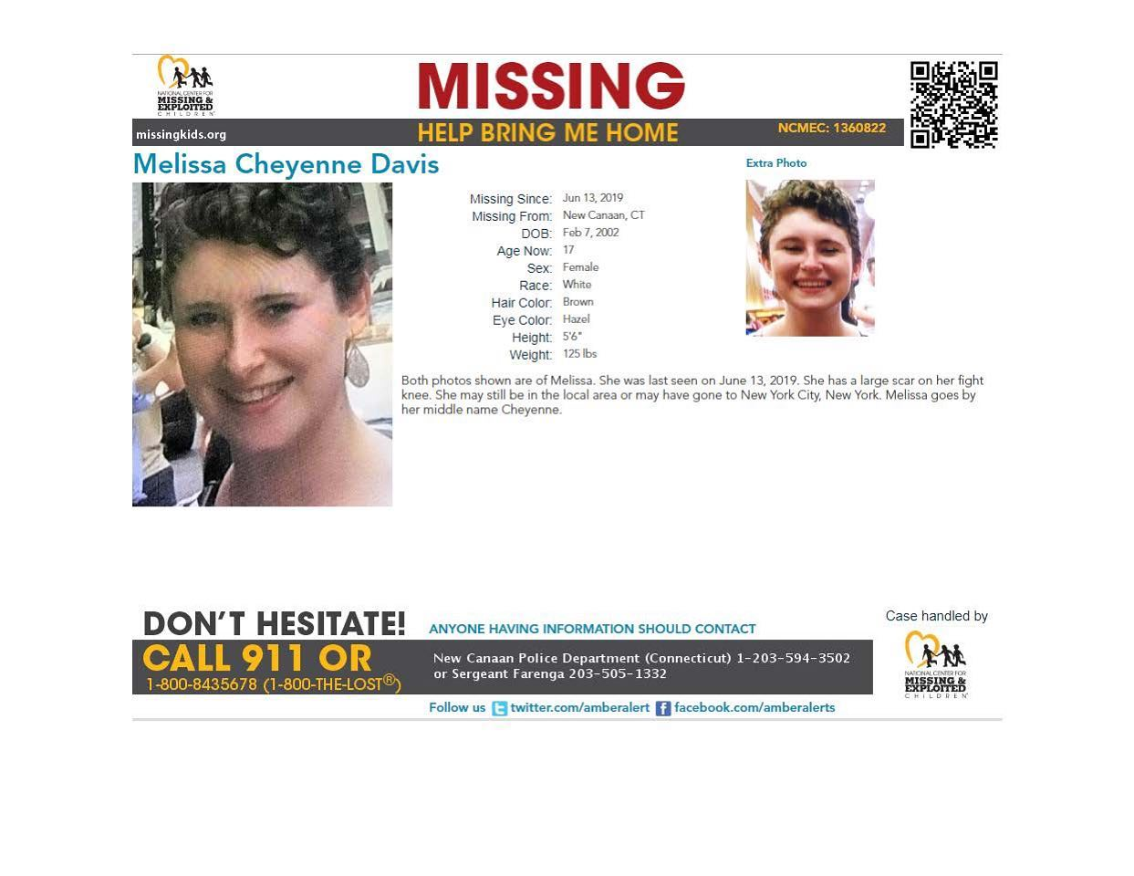 97b33671535a 17-Year-Old North Carolina Girl Reported Missing from New Canaan