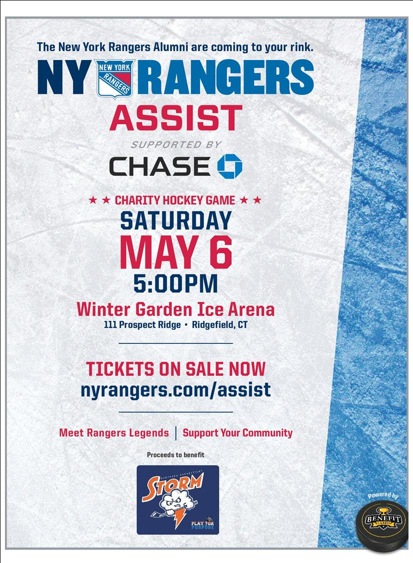 ny rangers charity hockey game at winter garden on may 6