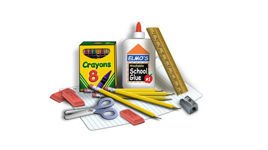 School Supplies Transparent