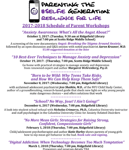 Parenting in the #Selfie Generation: Project Resilience on November 8