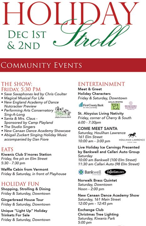 Hamlethub the new canaan chamber of commerce hosts thirteenth annual holiday stroll on friday from december 1st 500 pm 9 pm and december 2nd from 10 am 4 fandeluxe Choice Image