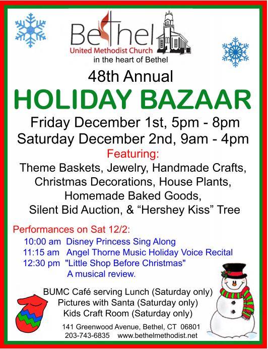 Bethel United Methodist Church 48th Annual Holiday Bazaar