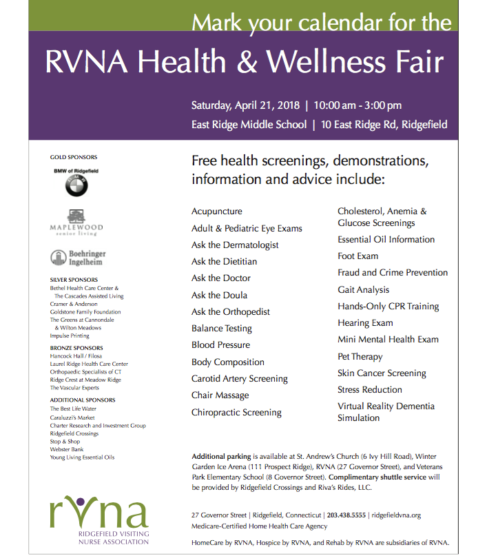 Wellness From Head To Toe At Rvna Health Fair This Saturday